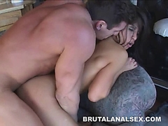 Petite asian Jayna Oso brutal analed and facialed