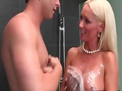 Cougar mom gets to know son in low