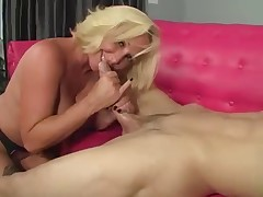 Sexy Milf In Stockings Fucks Her Son