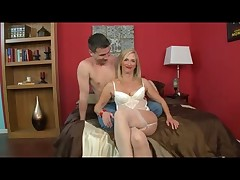 Glamorous Granny concerning Stockings Loves Anal