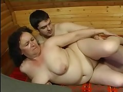 Granny Anal with rub-down the addition of rub-down the Varlet