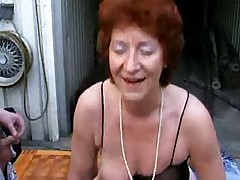 Grannies loves to swing with young boys