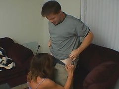 MIlf blows and fucks sporty guy