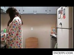 Sister fucked by brother in kitchen