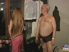 75 age-old grandpa carnal knowledge blessed off out of one's mind Russian hottie kermis