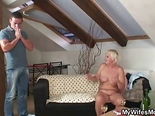 Mother in law seduces young guy