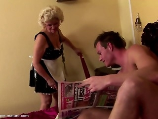 Young man fucked  old woman