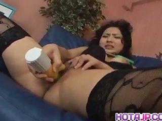 Megumi Haruka has cunt licked and rides dildo