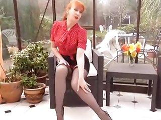 Mature British Redhead Masturbation
