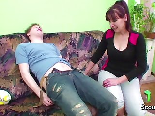 Step-Son Seduce stepmother to Fuck when dad not Home