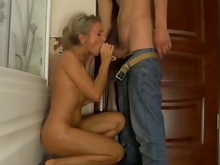 lovely russian mature gets fucked in the shower