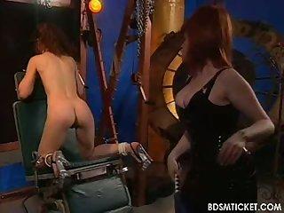 Mistress smacks ass