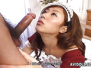 Hot and sexy maid with pointy nipples getting fucked raw