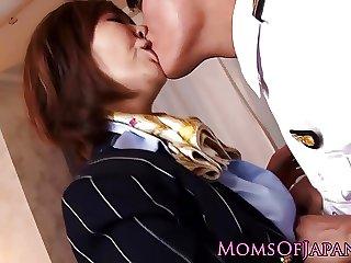 Deepthroating nippon mom assfucked