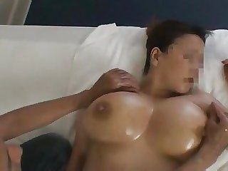 Wife's huge lactating boobs 10