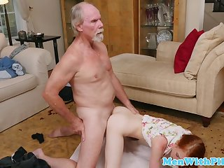 Redhead women take a part in incest videos