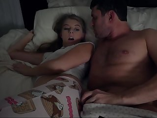 Cuddling and Fucking Scared Stepdaughter Whi