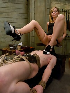 12 of Slave boy trained to serve Gorgeous Dominant Pussy