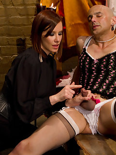 <!–-IMAGE_COUNT-–> of Mistress made a slave be sissy and fucked him