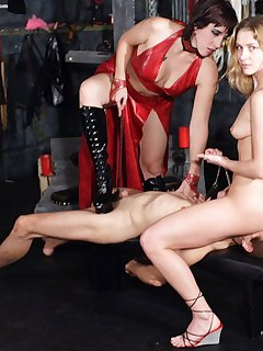 <!–-IMAGE_COUNT-–> of Male humiliated in dungeon
