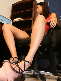 16 of Slavegirl is licking heels