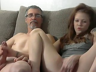 Helping my husband jerk off
