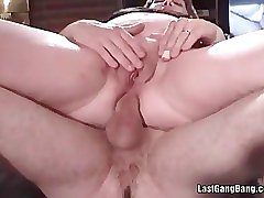 Hot and old slut getting banged hardly in her ass