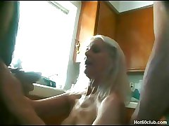 Hardcore mature granny kinky fucking in the kitchen